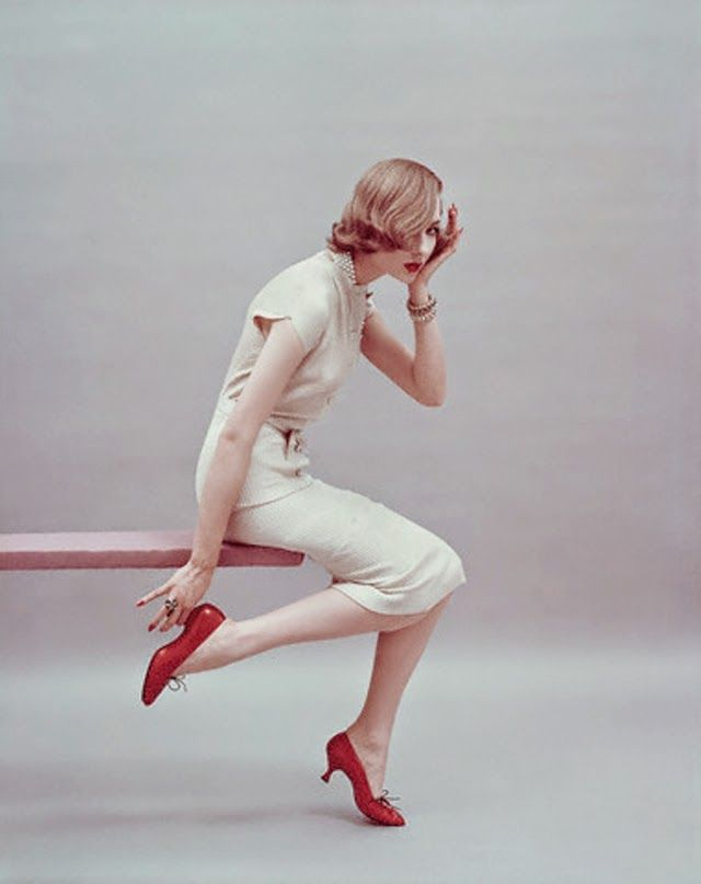 """vintage everyday: Beautiful Fashion Shots of Model Sherry """"Cherry"""" Nelms Taken in the 1950s"""