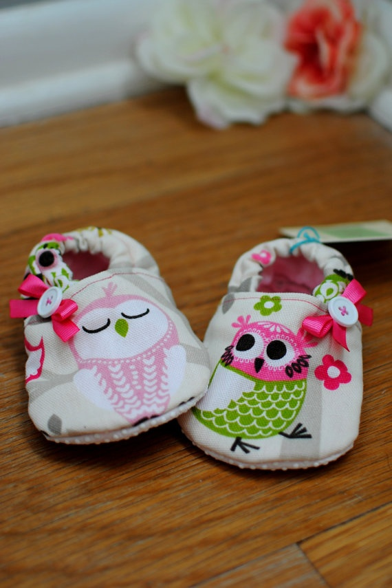 Owl Shoes Minky Lined Any Size by QuinnleesBoutique on Etsy- for my jocelynn <3 i have to get them