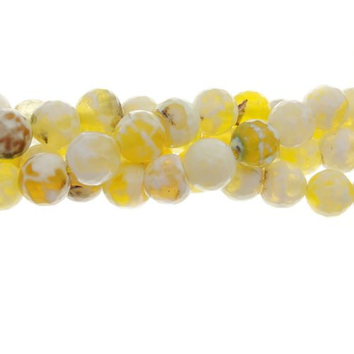 Antique Yellow Agate Faceted 8mm Gemstone Bead Strand: 8Mm Gemstone, Gemstone Beads