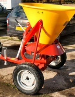 ATV quad bike fertiliser and salt spreader. The ATV spreaders can be towed or mounted on a quad bike to disperse grass seed, fertiliser onto the land to maintain the fields encouraging healthy growth. For more info: http://www.fresh-group.com/spreaders.html