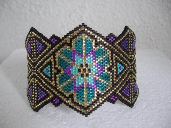 Stained Glass Beadwoven Bracelet