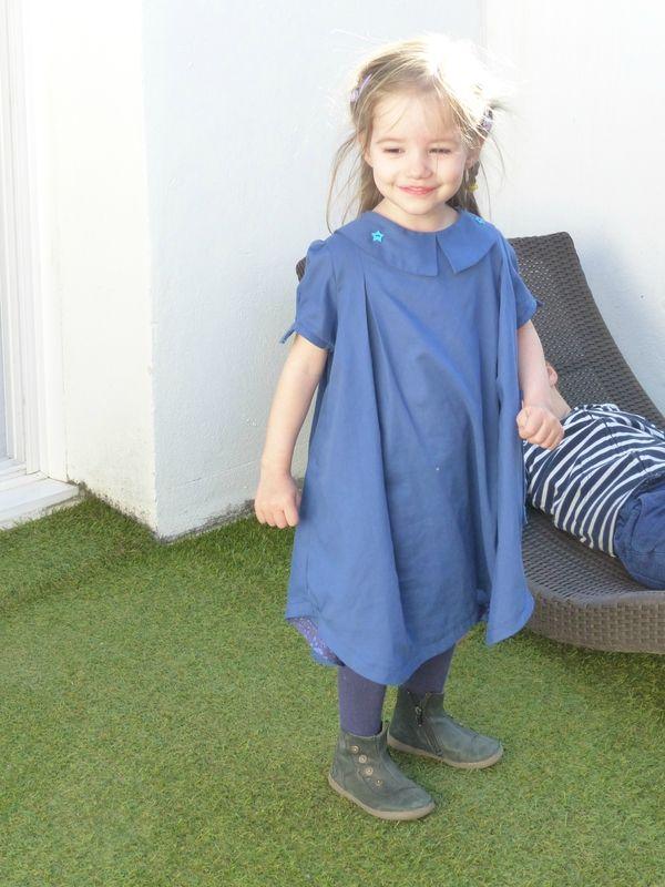 Robe ALHENA, patron de couture issu du livre Grains de Couture pour Enfants, Ivanne SOUFFLET, by Folklomette