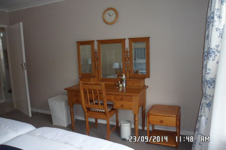 Main bedroom - lovely little dressing table from Maritzburg Auctioners