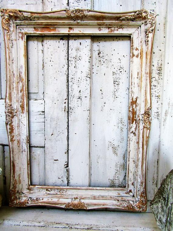Large White Distressed Picture Frame Gold Accented French Etsy Large Picture Frames Ornate Picture Frames Distressed Picture Frames