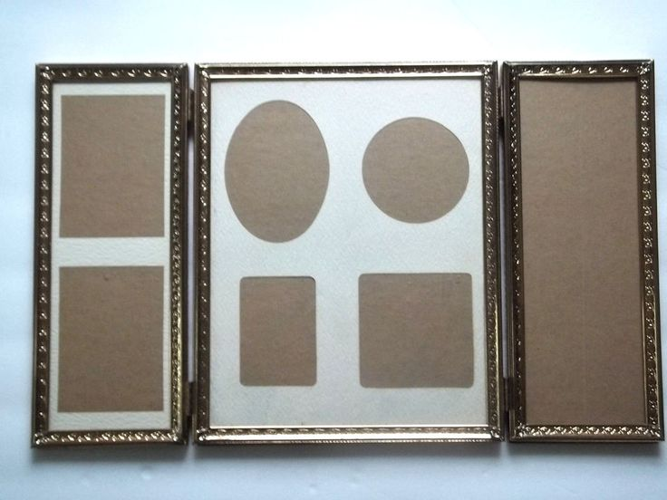find best value and selection for your tri fold vintage gold metal hinged photo picture frames ovals rectangles quality search on ebay