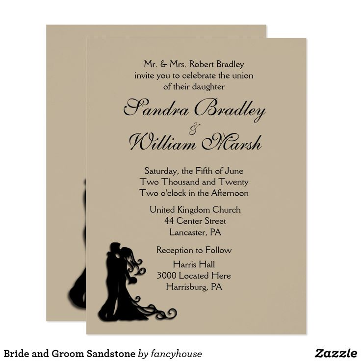zazzle wedding invitations promo code%0A Bride and Groom Sandstone Wedding Invitation