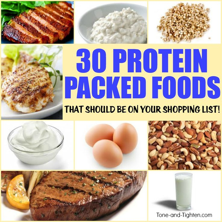 30 of the best high-protein foods! A healthier shopping list from Tone-and-Tighten.com