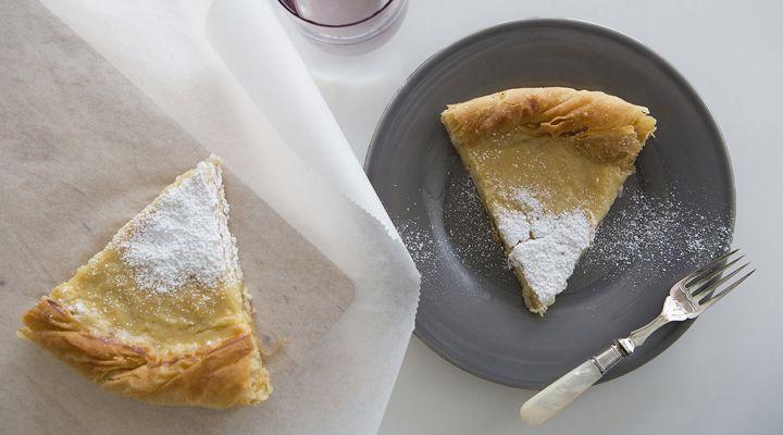 Γαλατόπιτα με φύλλο κρούστας | alevri.com