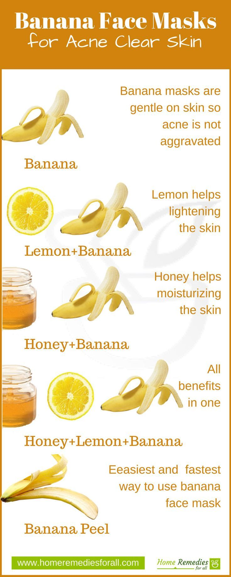 Banana makes some very effective face masks for your skin