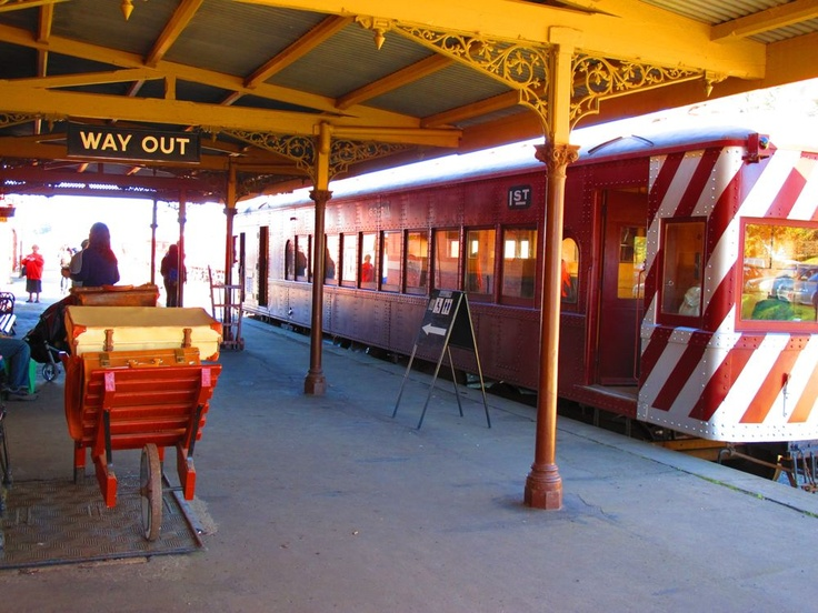 Heritage Train ride @ the #Daylesford Sunday Market