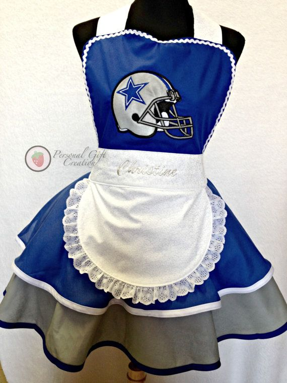 Dallas Cowboys Women Apron, Sexy Apron by Personal Gift Creation