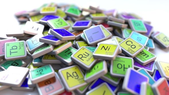 Tin Sn Block on the Pile of Periodic Table of the Chemical Elements Blocks by moovstock Tin tag on the pile of periodic table of the chemical elements tags