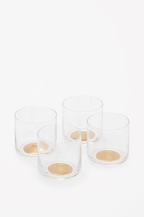 Gold dot tumbler glasses