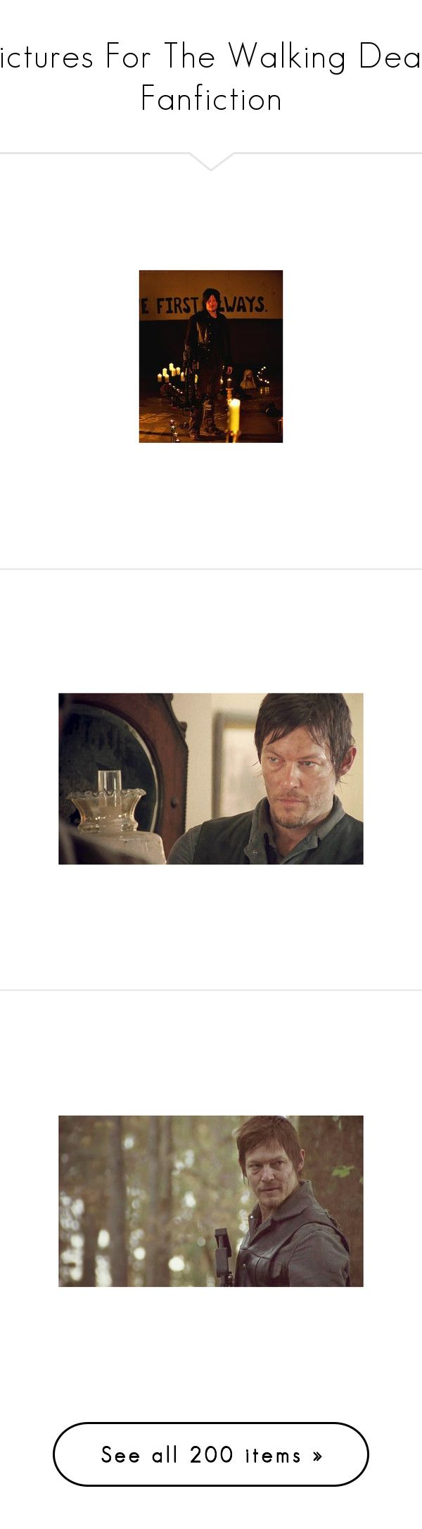 """""""Pictures For The Walking Dead Fanfiction"""" by blaizeg ❤ liked on Polyvore featuring home, kitchen & dining, the walking dead, backgrounds, pictures, places, daryl dixon, norman reedus, people and twd"""