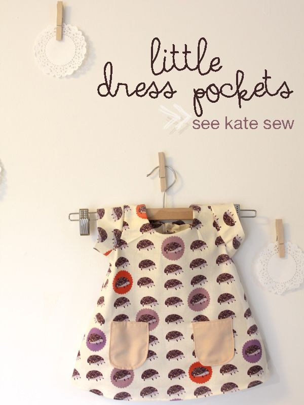 see kate sew: little dress pockets pattern...need to do this on red dress...
