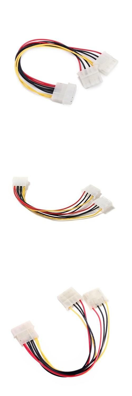 [Visit to Buy] GTFS-Hot New 8 inch Computer Molex 4 Pin Power Supply Y Splitter Cable #Advertisement