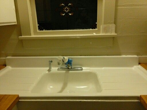 Epoxy Spray Painting An Old Ceramic Sink Made It Look Brand New. The Next  Sink