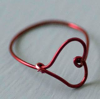 Tutorial: wire heart ring accessories jewelry diy crafts