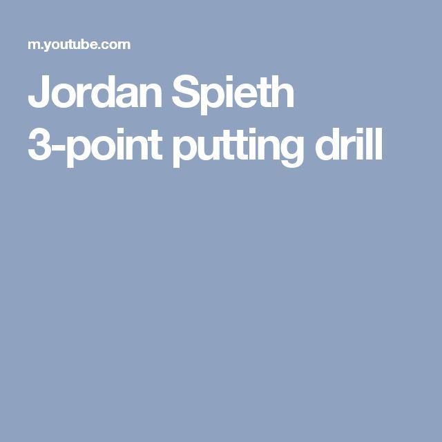 Jordan Spieth 3-point putting drill
