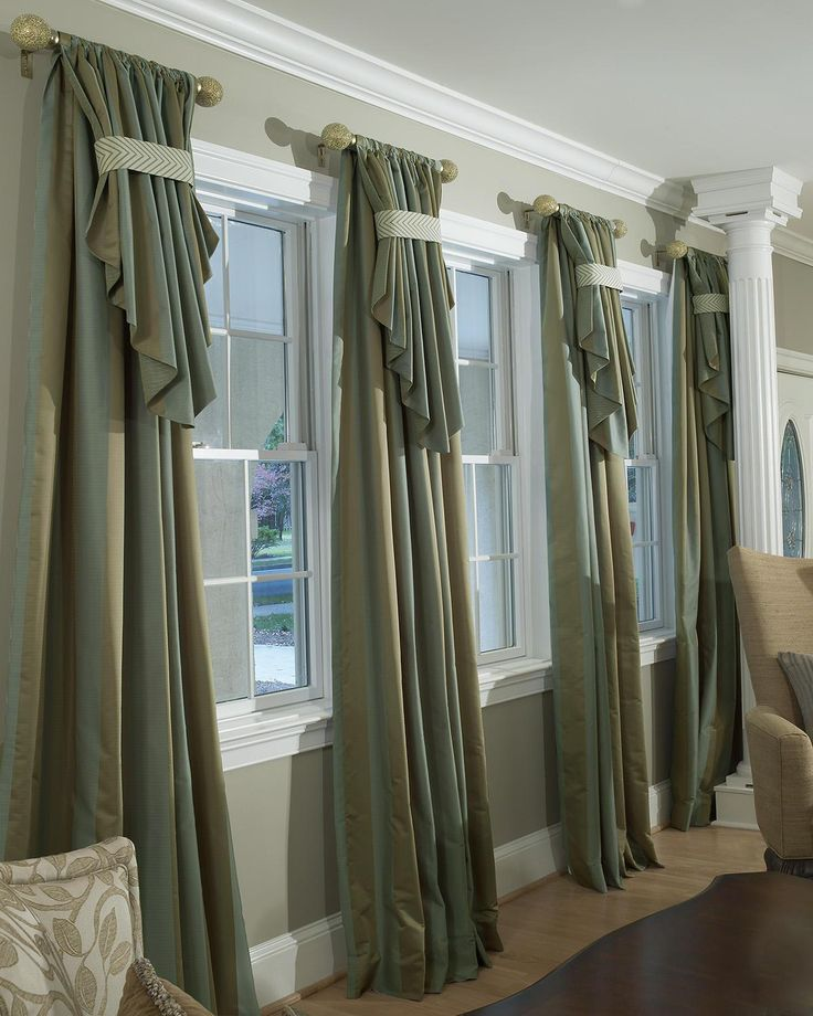 Custom drapery parda pinterest curtain rods large for Window dressing