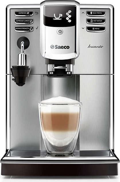 Saeco Incanto HD8914/01  Saeco Incanto HD8914/01: Elegant design met indrukwekkende koffiekwaliteit Met de Saeco Incanto HD8914/01 maak jij dagelijks jouw koffie met veel plezier.De machine is binnen no-time klaar voor gebruik dankzij de snel opwarmende boiler. Geen gewacht meer s morgens! De keramische maalmolens zorgen voor een perfecte maling zonder verbrande smaak.Je maakt ook eenvoudig een heerlijke cappuccino of latte macchiato met de HD8914/01 dankzij het automatische…