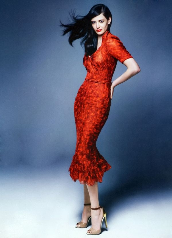 Eva Green in Yves Saint Laurent | Photo by Rankin | InStyle UK