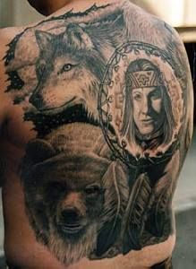 Tribal Indian American Tattoo Pictures