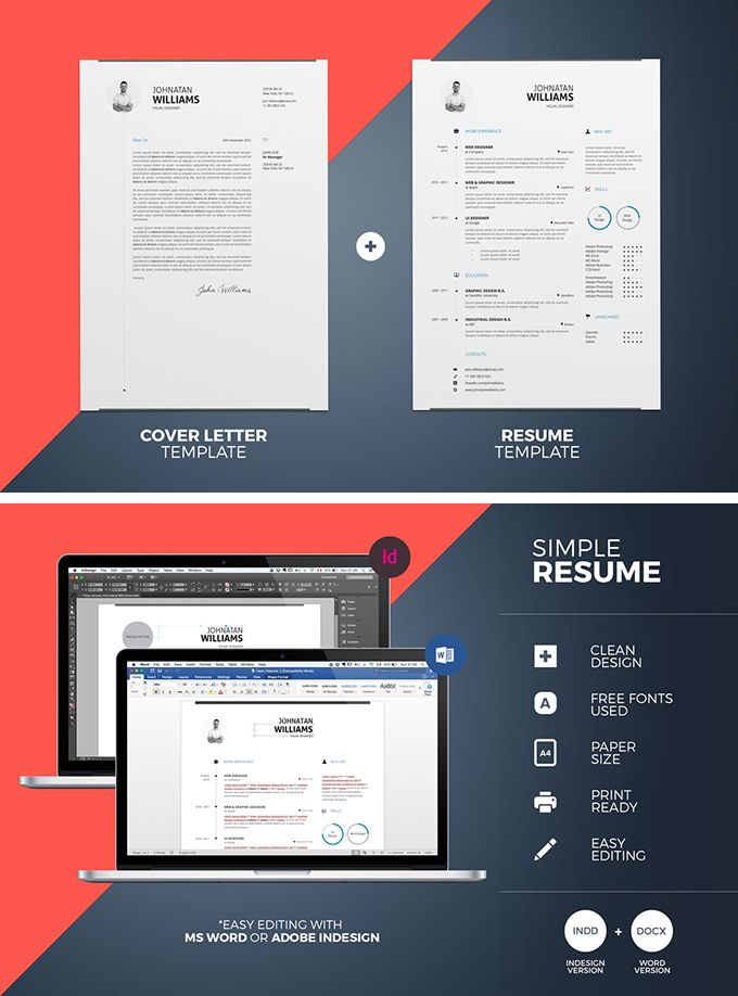 Simple Resume Templates - download freebie by PixelBuddha