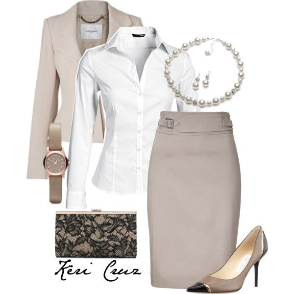 Stylish office outfit by keri-cruz on Polyvore featuring H&M, L.K.Bennett, HUGO, Jimmy Choo, Accessorize and Marc by Marc Jacobs