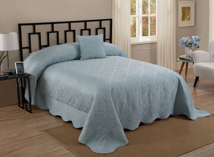 Make Your Bedroom Inviting And Timeless With A Charmeuse Bedspread By  Cannon. Quilt Stitching And