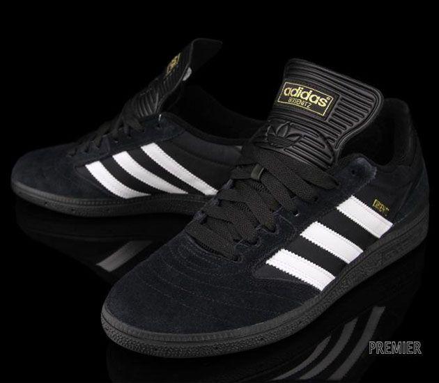adidas Skateboarding Busenitz-Black-Running White-Black #sneakers #kicks