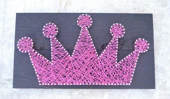 String Art, Crown Art, Girls Room or play room