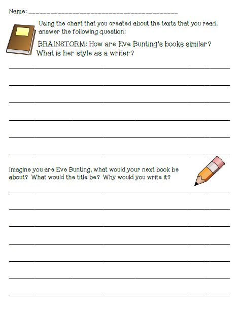 Author's Study On Eve Bunting