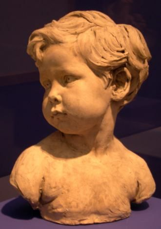 Jules Dalou : Buste d'enfant