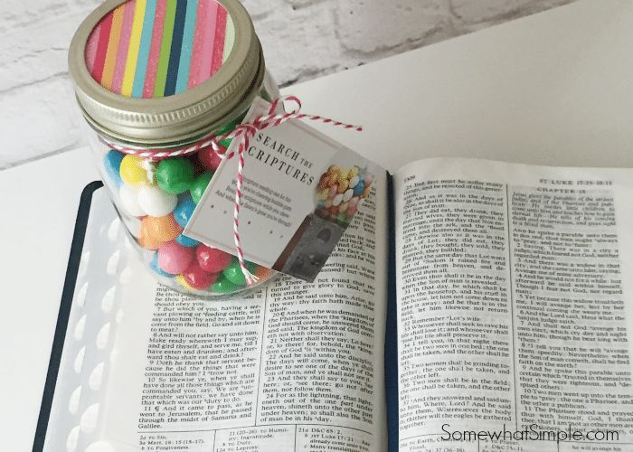 This bubblegum scripture reading idea is a perfect handout for a lesson on scripture study! Several years ago, the visiting teaching message for the month was on scripture study. I immediately thought of re-making a cute bubblegum scripture reading printable for the ladies that I visit teach.  Look at this cute poem- I wish I knew to original source of the