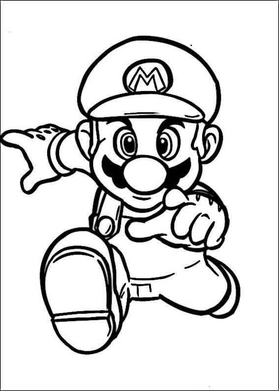 Mario Bross Drawings For Coloring Printable Coloring For Kids To