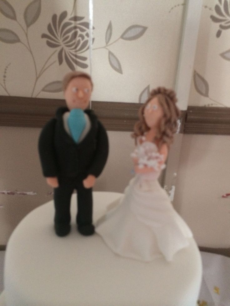 Bride and groom sugar craft topper