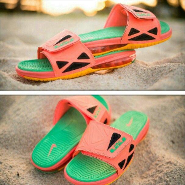 Online Cheap Nike Air Lebron 2 Slide Elite Flops Sport Turquoise
