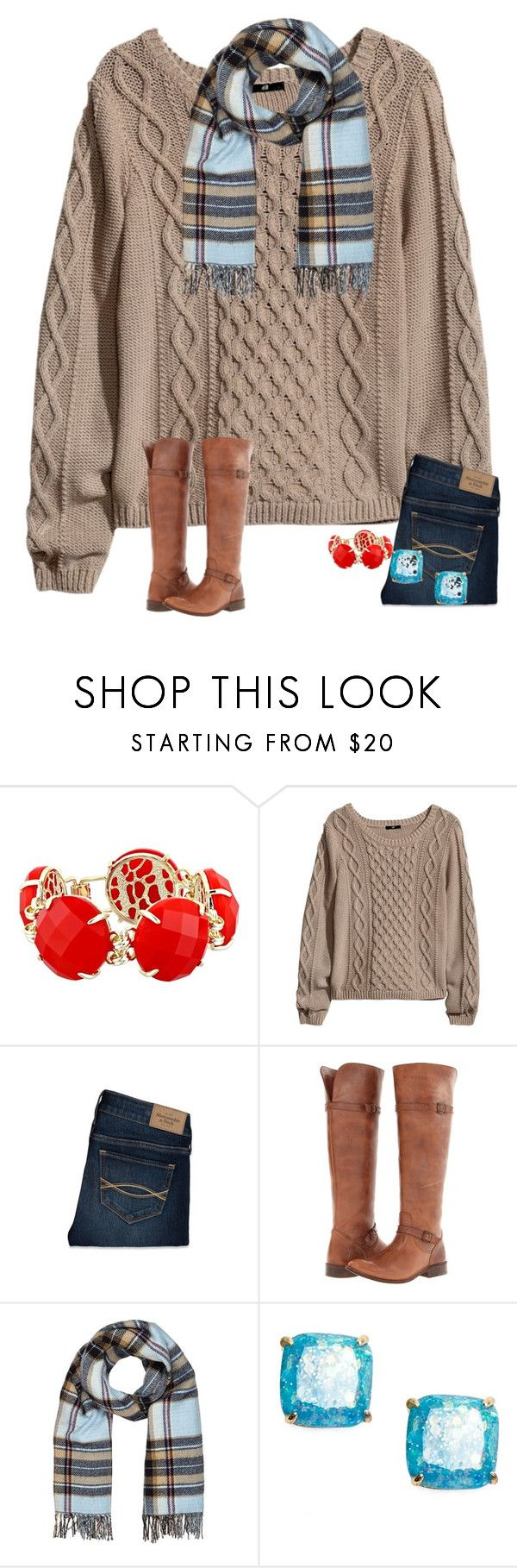 """""""Heir"""" by margarethanff ❤ liked on Polyvore featuring Kendra Scott, H&M, Abercrombie & Fitch, Frye, River Island and Kate Spade"""
