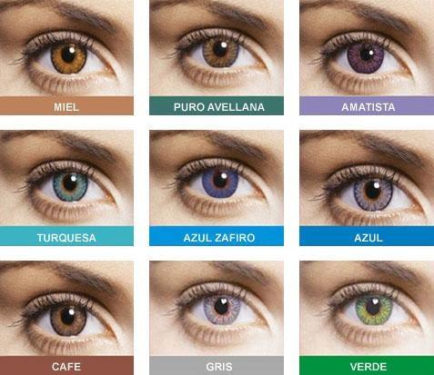 lentillas de colores para mujer