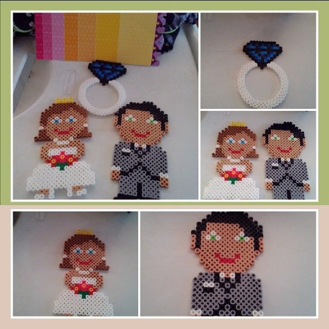 Wedding perler beads by crafting_with_shelby