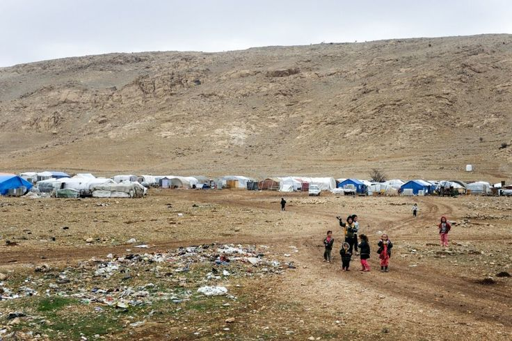 Children living in tents in the mountains of northern Iraq.