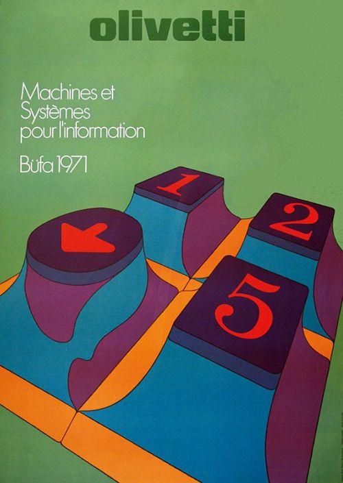 Walter Ballmer & Titti Campagnoli, artwork for Olivetti...