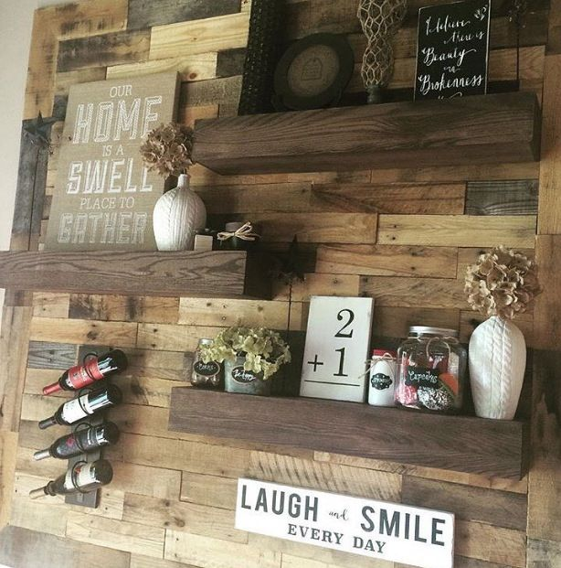 All wooden wall