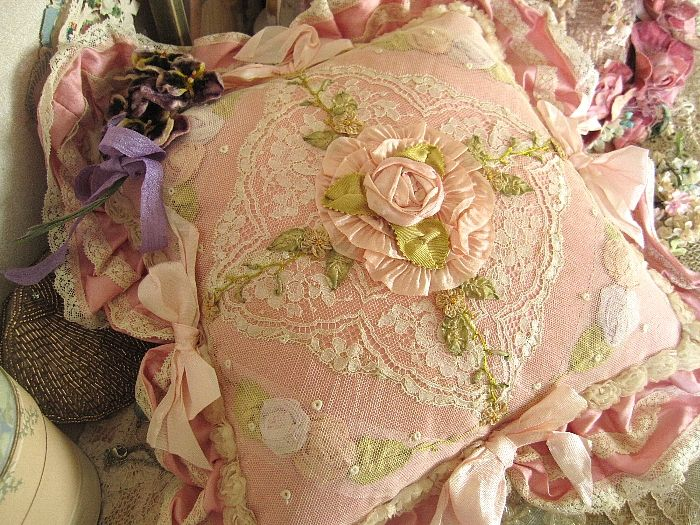 Lace, ribbon embroidery