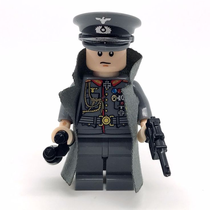 Lego Compatible German Army Officer w/ Accessories Nice Detail #Unbranded