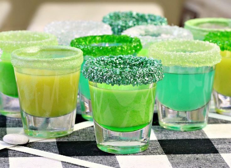 kindercocktails rezepte dekoration-zuckerrand-grün
