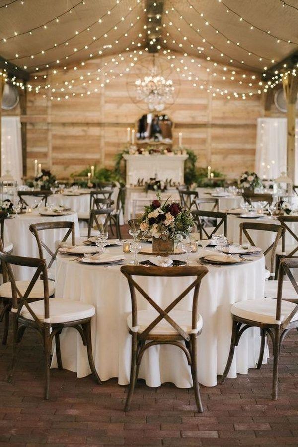 30 schicke rustikale Scheune Hochzeitsempfang Ideen
