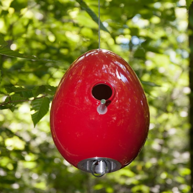 Sumac Red Egg Bird House in Nature