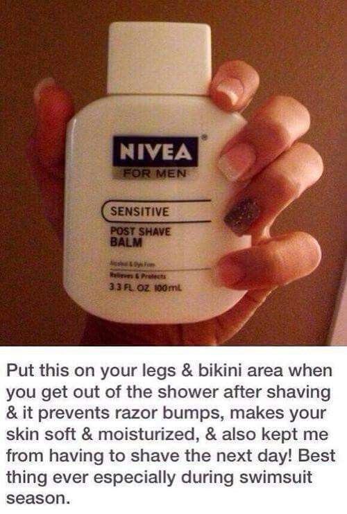 Prevent razor rash/burn and some women even use this as primer before makeup